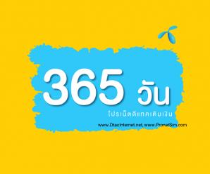โปรเน็ตดีแทค 365 วัน (1ปี) ไม่จำกัด ไม่ลดสปีด